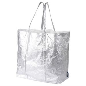 IKEA FREKVENS Silver large tote bag 21 gallons